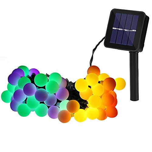 GroßE Sorten batteriebetrieben|globe-50led-4 Farben Ledgle 50 Led Globe Lichterkette Mit