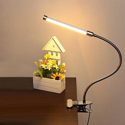 baytter flexbible led klemmleuchte leselampe schreibtischlampe klemmlampe f r bett kinder 3w 6w. Black Bedroom Furniture Sets. Home Design Ideas