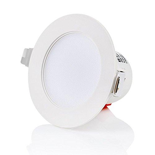 Tevea ultra flach led einbaustrahler ip44 dimmbar f r den - Deckenstrahler fur badezimmer ...