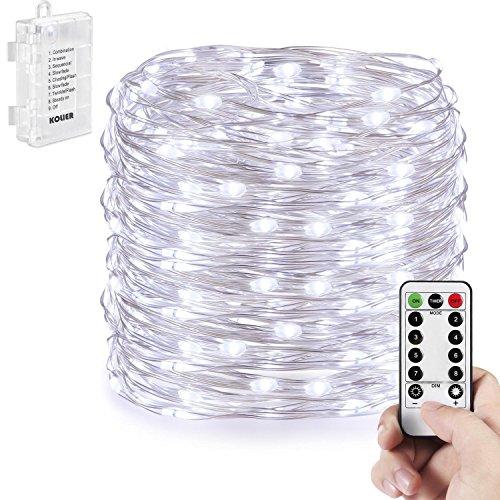 100er led outdoor lichterkette batterienbetrieben mit timer warmwei deal f r christmas - Weihnachtsbeleuchtung mit batterie und timer ...