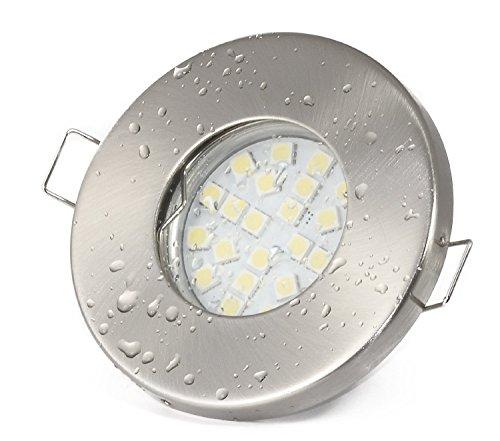 einbaustrahler aqua ip65 230volt gu10 5watt led leuchtmittel warmweiss nass feuchtraum. Black Bedroom Furniture Sets. Home Design Ideas