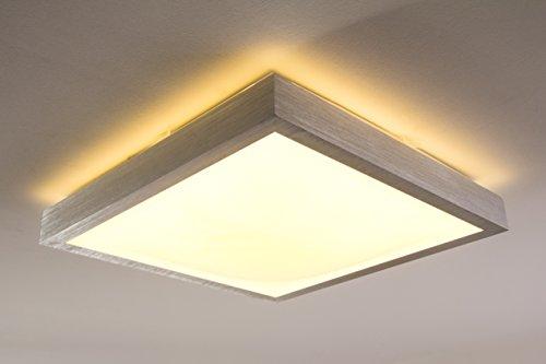 led deckenlampe wutach eckig 880 lumen 12 watt 3000 kelvin warmweiss ip44 badezimmer geeignet. Black Bedroom Furniture Sets. Home Design Ideas