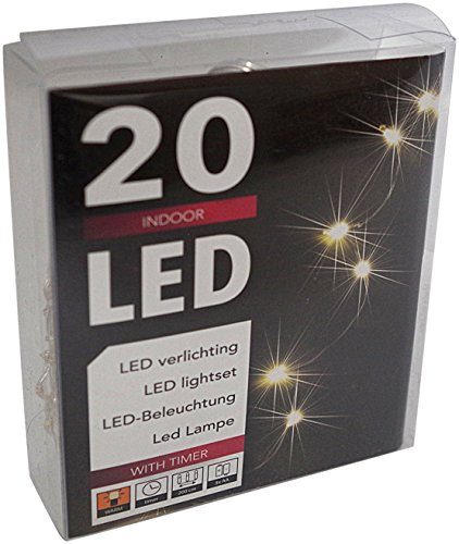 Led lichterkette batterie timer 48 leds f r innen und au en elknim - Weihnachtsbeleuchtung mit batterie und timer ...
