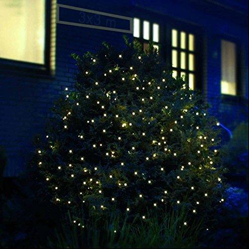 Weihnachtsbeleuchtung Außen Schlitten.Led Lichternetz 4 X 4 M 360 Led Warmweiß Weihnachtsbeleuchtung Außen