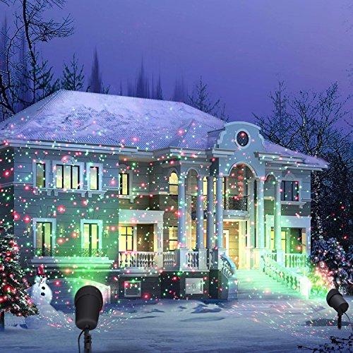 coowoo weihnachts projektor led beleuchtung f r innen und au en weihnachts punkte sterne elknim. Black Bedroom Furniture Sets. Home Design Ideas