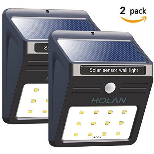 baxia wasserfest solarleuchte 12 led solar lampe solarlicht mit bewegungssensor kabelloses. Black Bedroom Furniture Sets. Home Design Ideas