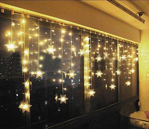 tofu lichtervorhang sterne led lichterkette fenster mit eu stecker warmwei e weihnachtsdeko. Black Bedroom Furniture Sets. Home Design Ideas