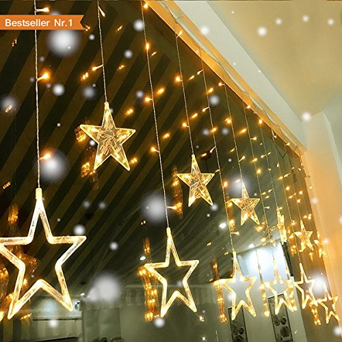 Led lichterkette lichterketten aussen fensterdeko weihnachtsdeko party deko lichterketten netz - Weihnachts fensterdeko led ...