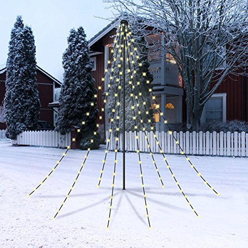 christmaxx led lichterpyramide 2 m gr n outdoor weihnachtsbeleuchtung f r drau en led. Black Bedroom Furniture Sets. Home Design Ideas