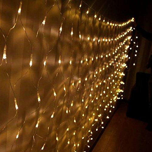 weihnachtsdekoration 160 led beleuchtung au en lichternetz elknim. Black Bedroom Furniture Sets. Home Design Ideas