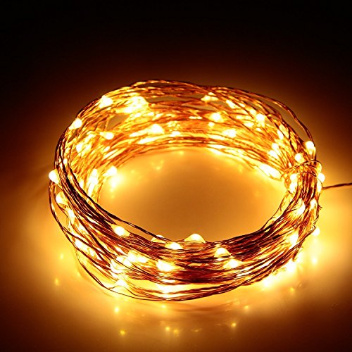 Led lichterkette innoolight 10m 100er led kupferdraht lichterketten 10 helligkeitsstufen mit - Led lichterkette bunt mit fernbedienung ...