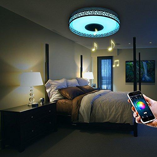 Ilifesmart led deckenleuchte dimmbar farbwechsel 4160lumens mit bluetooth lautsprecher app - Bluetooth lautsprecher wohnzimmer ...