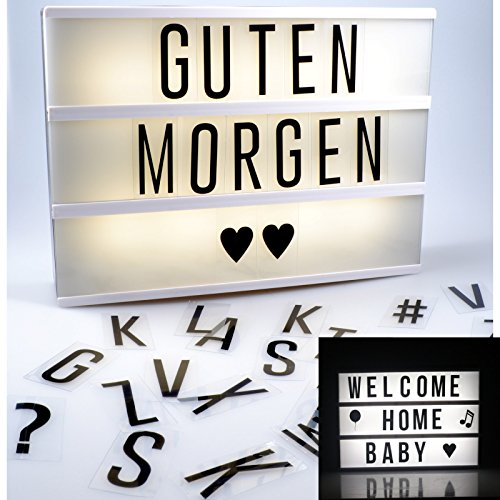 lightbox mit 110 buchstaben emojis und roten herzen led lichtbox leuchtkasten mit extragrossem. Black Bedroom Furniture Sets. Home Design Ideas