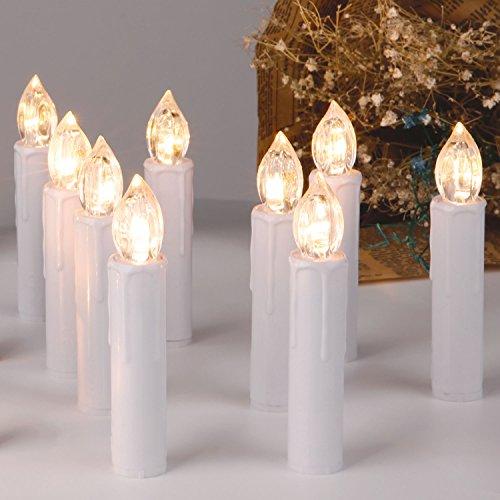 Weihnachtsbeleuchtung Led Fernbedienung.Cclife 20 30 40 Warmweiß Kaltweiß Led Baumkerzen Lichterkette