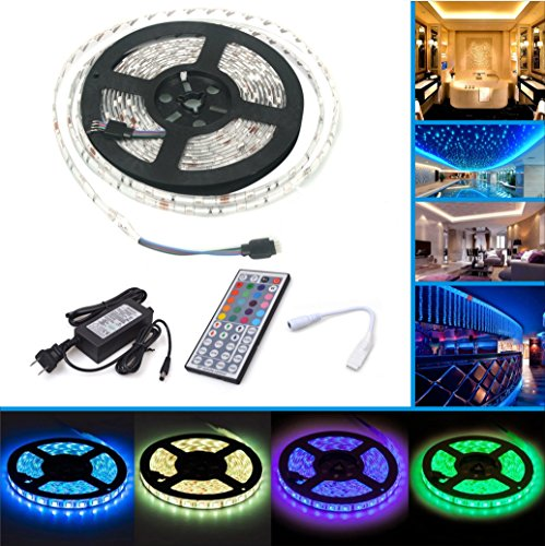 led strip licht streifen 5m wasserdicht wechselnde farben rgb smd5050 150 leds led leiste kit. Black Bedroom Furniture Sets. Home Design Ideas