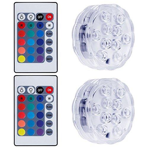 lictin 4 unterwasser led licht wasserdichte led lichter mit fernbedienung multi farbwechsel. Black Bedroom Furniture Sets. Home Design Ideas