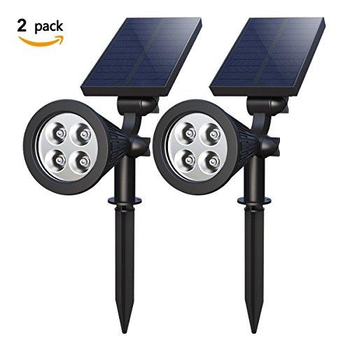 Solar Gartenleuchten , Soft Digits 4 LED IP65 Wasserdicht ...