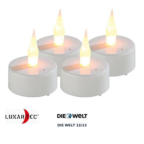 lunartec elektro teelichter led teelichter mit luftzugsensor und beweglicher flamme 4er set. Black Bedroom Furniture Sets. Home Design Ideas