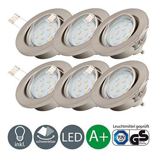 Set Bad Einbaustrahler IP65 Farbe: Chrom, 5Watt – 450Lumen LED ...
