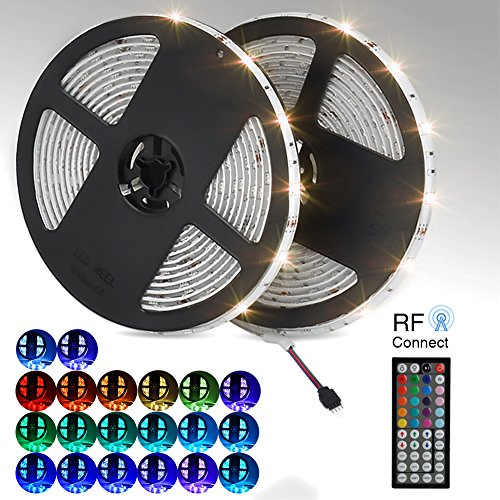 led streifen licht 10m wasserfestes led strip kit mit 300 smd 5050 rgb leds 44 tasten infrarot. Black Bedroom Furniture Sets. Home Design Ideas