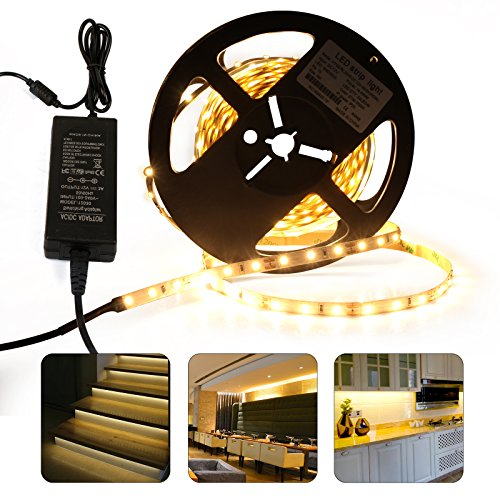 roleadro led strip 5m selbstklebend mit netzteil 3000k led leiste band schlauch stripes warmwei. Black Bedroom Furniture Sets. Home Design Ideas