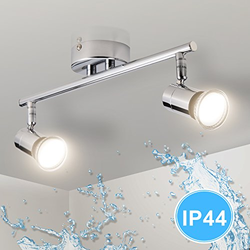 LED Deckenleuchte Badezimmer, Gr4tec 2 Flammig Deckenlampe LED ...