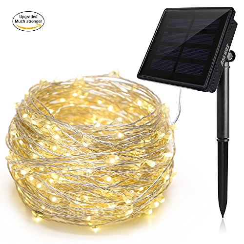 solar lichterkette innoolight 100er led solar kupferdraht lichterkette warmwei 10 meter. Black Bedroom Furniture Sets. Home Design Ideas