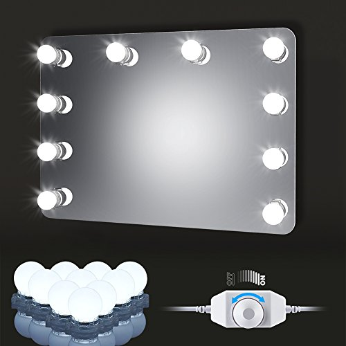 Schminkspiegel Mode Mädchen 10 W Touch Dimmen Füllen Licht Make-up Spiegel Drahtlose Handy Ladegerät Band Licht Schönheit Spiegel Drahtlose Ladegerät