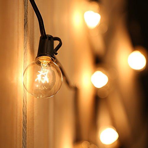 tomshine lichterkette au en 25ft g40 gl hbirne warmwei wasserdicht globus schnur deko. Black Bedroom Furniture Sets. Home Design Ideas