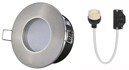 decken einbauleuchte nautic ip65 rund alu edelstahl optik geb rstet 12v 230v ohne leuchtmittel. Black Bedroom Furniture Sets. Home Design Ideas