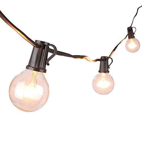 g40 globe lichterkette 7 6meters globus schnur licht mit 27 gl hbirnen innen au en h ngendes. Black Bedroom Furniture Sets. Home Design Ideas