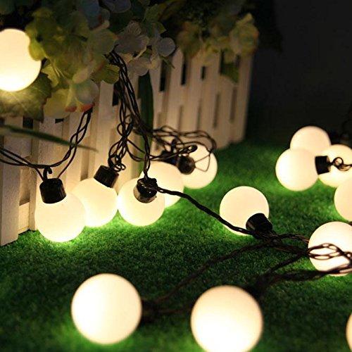 salcar bunte led lichterkette 5 meter 50 kugeln f r weihnachten deko party festen warmwei elknim. Black Bedroom Furniture Sets. Home Design Ideas