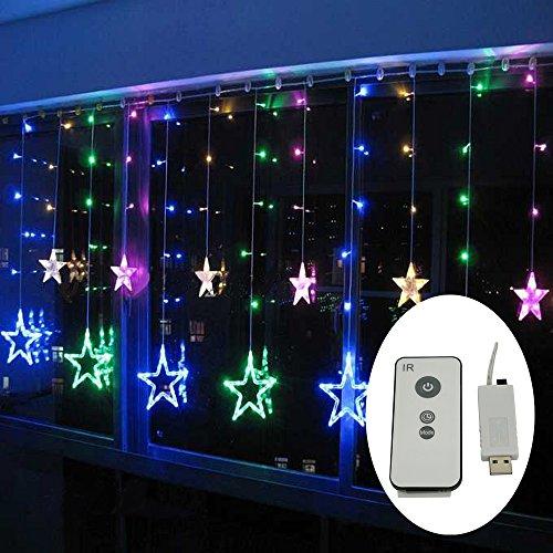 led sternenvorhang mit usb stecker 138 led lichter fernbedienung schaltuhr 8 modus. Black Bedroom Furniture Sets. Home Design Ideas