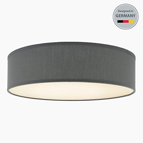b k licht deckenleuchte 3 flammig stoffleuchte wei rund stoff deckenlampe deckenstrahler. Black Bedroom Furniture Sets. Home Design Ideas