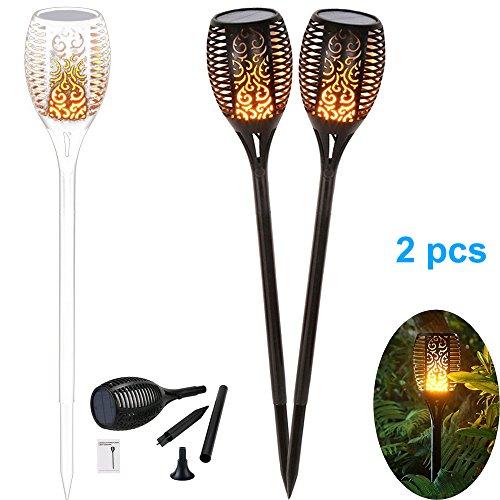 Beleuchtung Garten & Terrasse Fein Solar Garten Tiki Taschenlampe 96 Led Flackernder Pfad Tanzende Flammen Lichter