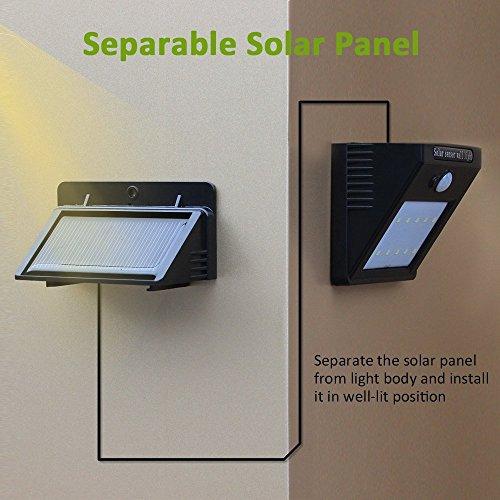 4pack 28 leds solarleuchten f r aussen neloodony 400 lumen superhelle mit bewegungsmelder. Black Bedroom Furniture Sets. Home Design Ideas