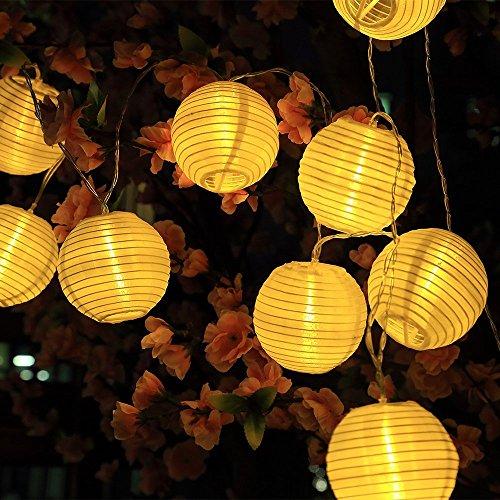 Sunjas Solar Lichterkette 30 Leds 6 Meter Lampions Laterne