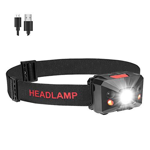 Led-stirnlampe Lauf Stirnlampen Aufladbar Usb Kopflampe 5 Modus Stirnlampe Led