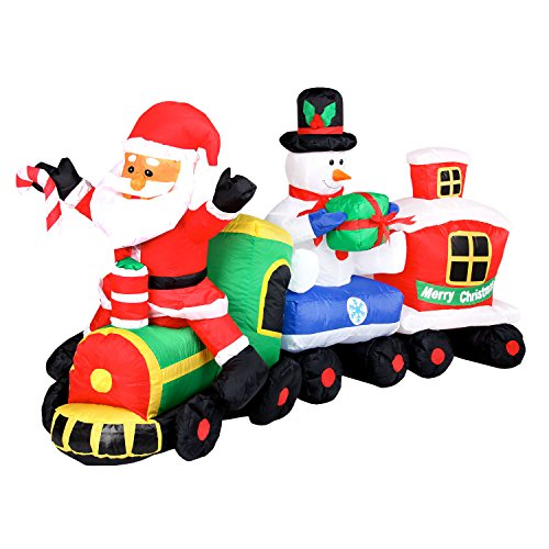 gartenpirat aufblasbarer schneemann 180 cm beleuchtet weihnachtsdekoration figur gro elknim. Black Bedroom Furniture Sets. Home Design Ideas