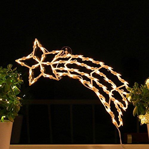 Fenster silhouette weihnachten 45cm weihnachtsdeko fensterbilder beleuchtet - Fensterbeleuchtung innen ...