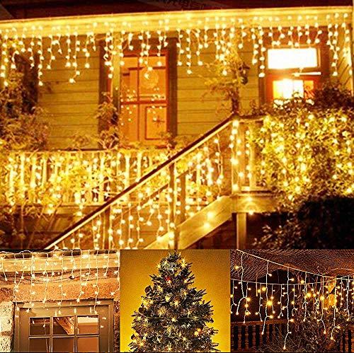 Weihnachtsbeleuchtung Aussen Ersatzbirnen.216 Led 5m Eisregen Eiszapfen Lichter Led Lichtervorhang Lichter