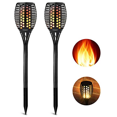 cinoton solarleuchten solarpfad tanzen flammenbeleuchtung 66 led d mmerung zum d mmerung. Black Bedroom Furniture Sets. Home Design Ideas