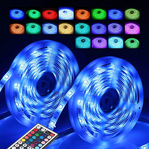 innoolight 5m 300 leds rgb ip65 wasserfest bunt selbstklebend smd 2835 led lichterkette inkl 24. Black Bedroom Furniture Sets. Home Design Ideas