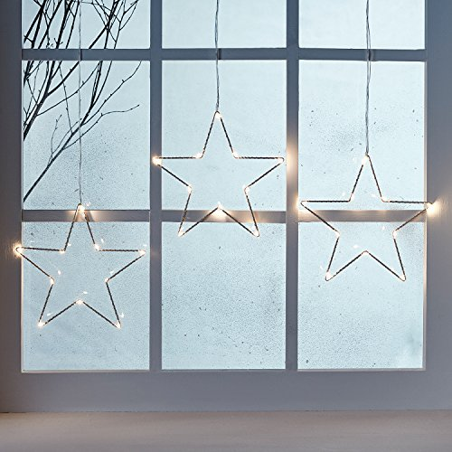 3 st ck weihnachtsstern beleuchtung yunlights fenster stern licht 45 led lichterkette au en. Black Bedroom Furniture Sets. Home Design Ideas
