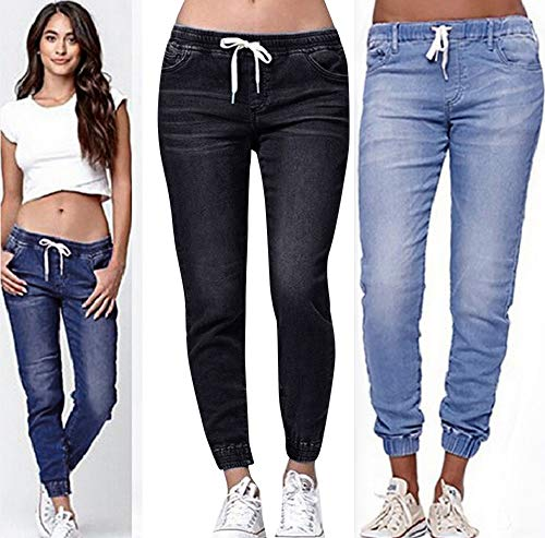 521b03ff0af Vectry Jeans Damen Slim Fit Lose Fit Jeans Jogger Push Up Ankle Straight  Leg Mit LöChern Stretch Denim Relaxed Hose Hosen