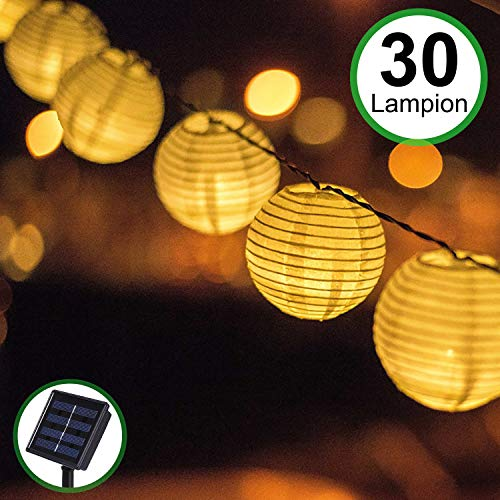 Solar Outdoor Lichterkette 30er 55m Led Lampion Laterne