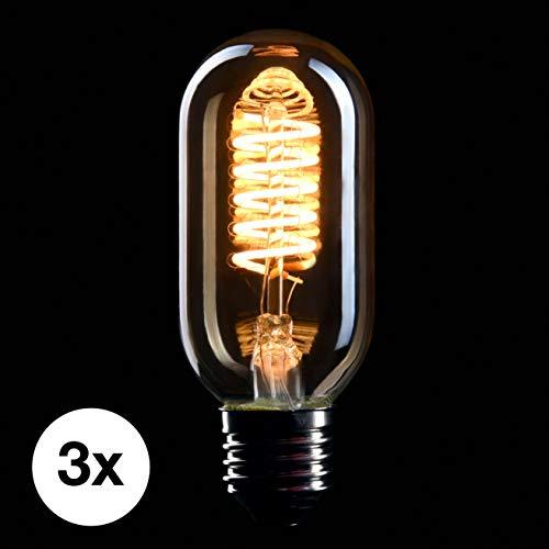 Philips LED Classic Dekolampe Gold Vintage Retro-Design Flame 2000 Kelvin Flammeneffekt 15000 Stunde A+ Nicht Dimmbar